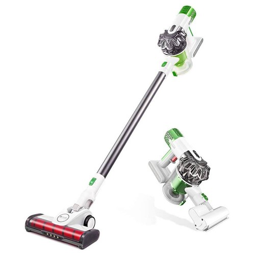 Proscenic P9 Cordless Vacuum Cleaner 15KPa Powerful Suction 45 Minutes Running Time Anti-winding Hair Mite 2-in-1 Stick Vacuum - White & Green