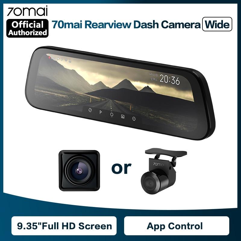 70mai Rearview Mirror Camera Wide 9.35 inch Full Screen Stream Media Dash Cam Wifi 1080P 70 Mai Car DVR Rear View Camera|DVR/Dash Camera| - AliExpress