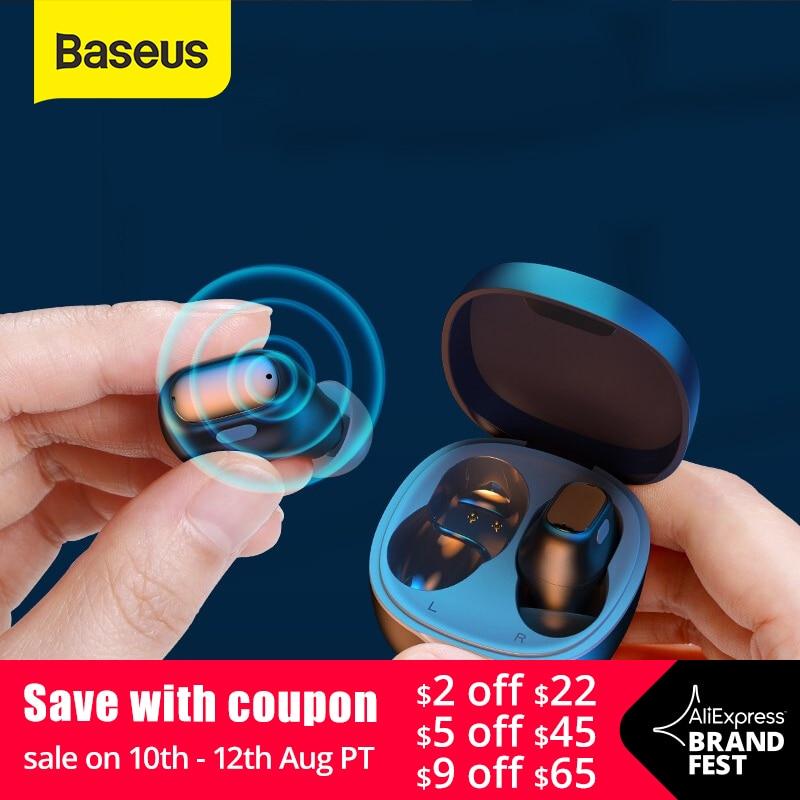 Baseus WM01 TWS Bluetooth Earphones Stereo Wireless 5.0 Bluetooth Headphones Touch Control Noise Cancelling Gaming Headset Phone Earphones & Headphones  - AliExpress