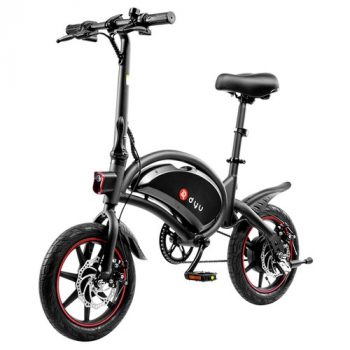 DYU D3F with Pedal Folding Moped Electric Bike