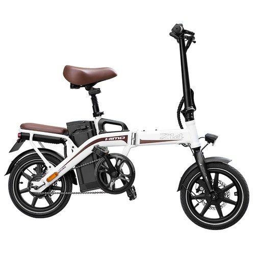 HIMO Z14 Folding Electric Bicycle 250W Brushless Motor Three Modes Maximum Speed 25km/h Up To 80km Range 12AH Lithium Battery Maximum Load 100kg Hidden Inflator Standard Edition - White