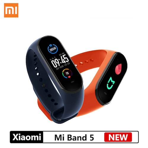 NEW Xiaomi Mi Band 5 Smart Bracelet 4 Color AMOLED Screen Mijia Miband 5 Smartband Fitness Traker Bluetooth Sport Waterproof