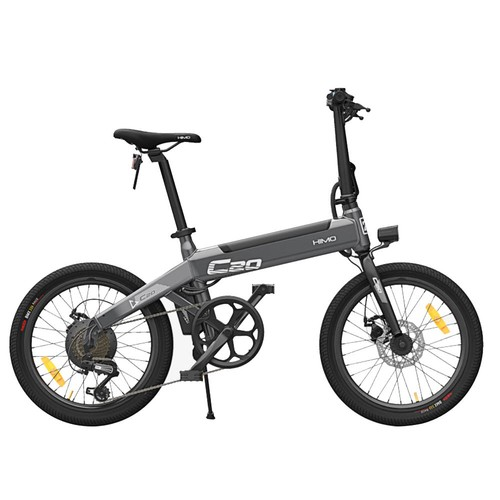 Xiaomi HIMO C20 Foldable Electric Moped Bicycle 250W Motor Max 25km/h 10Ah Battery Hidden Inflator Pump Variable Speed Drive - Gray