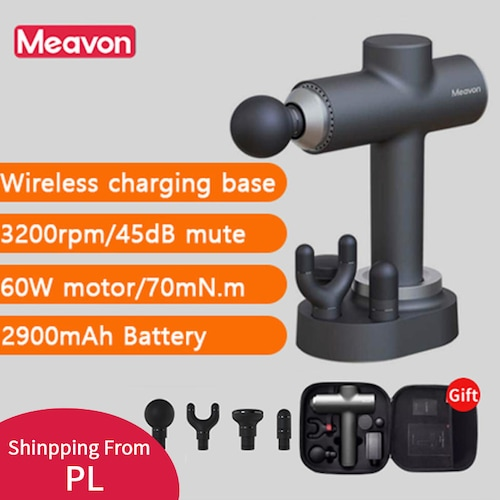 Xiaomiyoupin Meavon Massage gun Deep Muscle Relaxation 3 Modes Body massager with Charging base