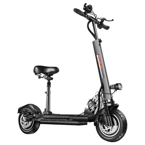 YOUPING Q02 Folding Electric Scooter 500W Motor 48V/18Ah Battery 10 Inch Tire Containing Seat - Black
