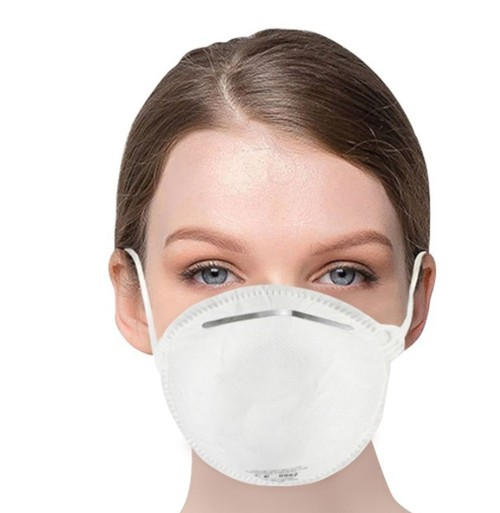 10PCS EU Standard FFP2 NR Disposable Respirator Mask With CE Certified Filter Efficiency 95% Above Easy Breath Comfortable Wear for Flu Protection PM 2.5 Anti-Virus Pollution Allergy Haze- White