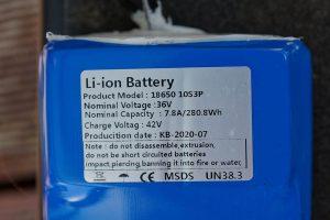 Niubility N1 battery