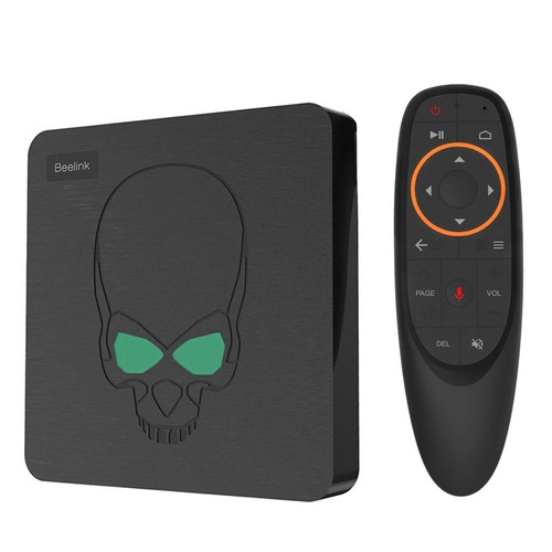 Beelink GT-King Amlogic S922X 2.2GHz Android 9.0 Dual System 4GB DDR4 64GB eMMC 4K TV Box with 2.4G Air Mouse Dual Band WiFi Gigabit LAN Bluetooth USB3.0