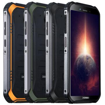 DOOGEE S40 Pro Global Version 5.45 inch IP68/IP69K Waterproof NFC Android 10.0 4650mAh 13MP Dual Rear Camera 4GB 64GB Helio A25 4G Smartphone