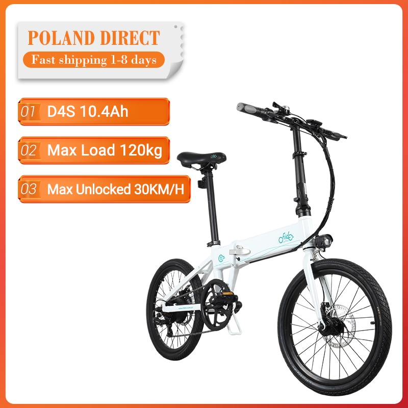 [EU Direct] FIIDO D4S 10.4Ah 36V 250W 20 Inches Folding Fat Ebike Moped Bicycle 25km/h Top Speed 80KM Mileage Electric Bike|Electric Bicycle| - AliExpress