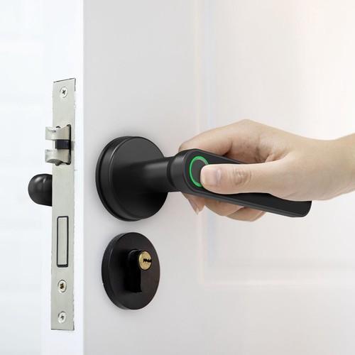 Exitec H03 Smart Fingerprint Lock Smart Keyless Door Lock Bluetooth APP Control Multi-language Suitable For Left Right Open 35-58mm Door - Black