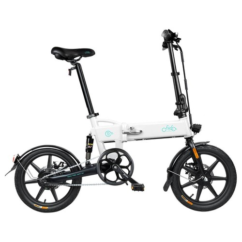 FIIDO D2 Folding Electric Moped Bike City Bike Commuter Bike Three Riding Modes 16 Inch Tires 250W Motor 25km/h 7.8Ah Lithium Battery 20-35KM Range - White