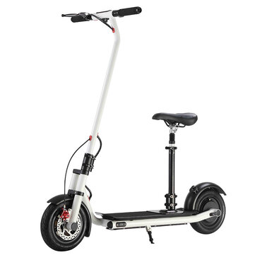 NEXTDRIVE N-7 300W 36V 10.4Ah Foldable Electric Scooter Vehicle With Saddle For Adults/Kids 32 Km/h Max Speed 18-36Km Mileage