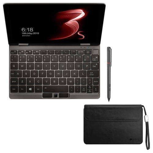 """One Netbook One Mix 3 Pro Platinum Edition Laptop English Keyboard Intel Core i7-10510Y 8.4"""" Touch Screen 2560*1600 16GB RAM 512GB SSD Windows 10 + Stylus Pen + Protective Case - Gray"""