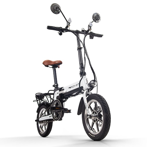 Rich Bit Ebike RT-619 14 Inch Folding Electric Bike 250W 36V 10.2AH Li-ion Battery 5 Level Pedal Assist With Rear luggage rack