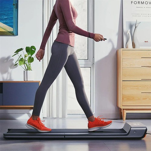 Xiaomi Mijia Smart Folding Walking Pad Non-slip Sports Treadmill Walking Machine Manual Automatic Modes Gym Fitness Equipment LED Display Connected with Mi Home App - Silver Gray