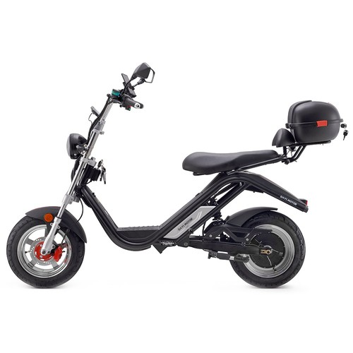 DAYI MOTOR e-Thor 3.0 Electric Motorcycle 3000W Brushless Motor 30AH Battery 12 Inch Scooter - Black