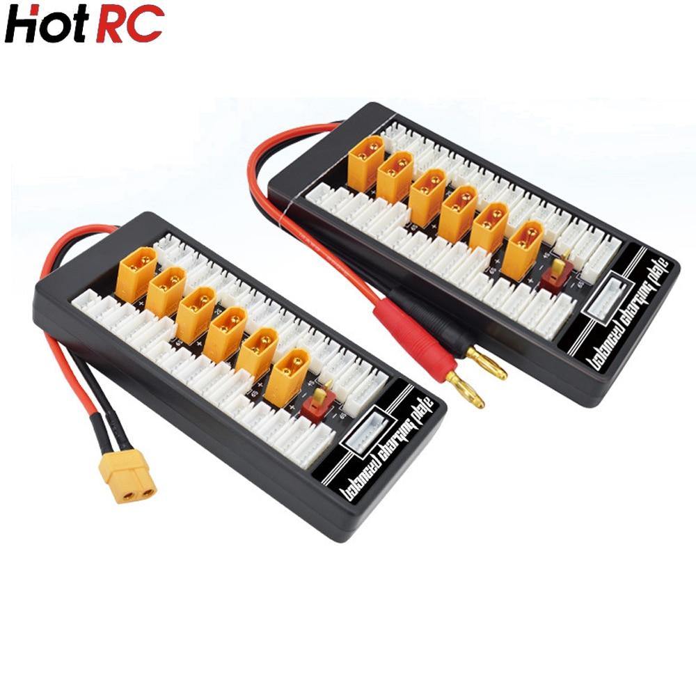 High Quality 2S 6S XT60 Plug Parallel Charging Board Para Board XT60 Plug 4.0MM Bananer for Imax B6 B6AC B8 6 in 1 xt60 plug parallel charging boardparallel charging - AliExpress