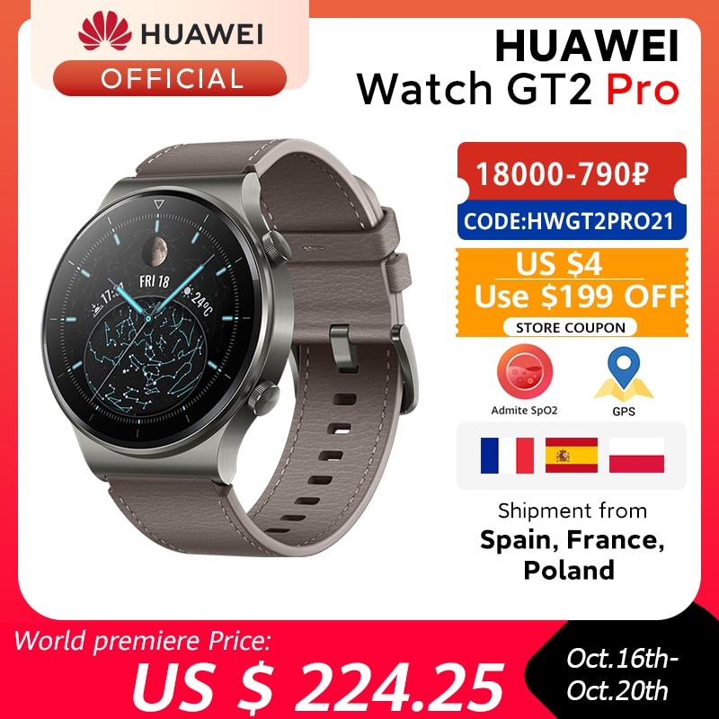 In stock Global Version HUAWEI Watch GT 2 pro SmartWatch 14 days Battery Life GPS Wireless Charging Kirin A1 GT2 Pro|Smart Watches| - AliExpress