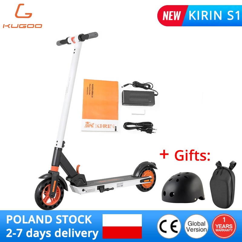 """KUGOO KIRIN S1 Electric Scooter 8"""" Tires 350W DC Brushless Motor With 3 Speed Control Max Up To 25km Range Dual Braking System Electric Scooters  - AliExpress"""