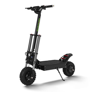 LANGFEITE T8 1200Wx2 Dual Motor 26Ah 11inch Folding Electric Scooter Top Speed 70 km/h Max.Load 150kg Double Brake System EU Plug