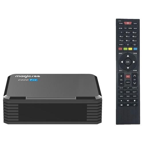 MAGICSEE C500 PRO DVB-S2/S2X/T2 4GB/32GB Amlogic S905X3 Android 9.0 TV BOX 2.4G+5G WIFI Bluetooth 2.5 Inch SSD/HDD Bay PVR Recording