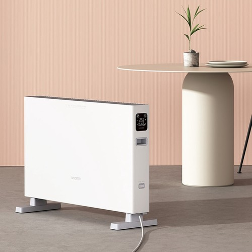 SmartMi 1S Electric Heater with Touch Screen Control, IPX4 Rated, 2200W Power, Aluminum Heating Element, Wi-Fi and Mijia App Support for Bathroom, Living Room, Office, Home by Xiaomi Youpin - Smart Version