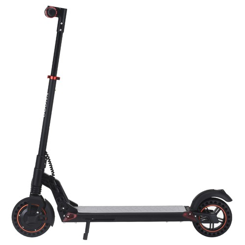 [2020 NEW] KUGOO S1 Plus 8 inch Folding Electric Scooter 350W Motor 7.5Ah Clear LCD Display Screen Max 30km/h 3 Speed Modes Max Range up to 25km Easy Folding - Black