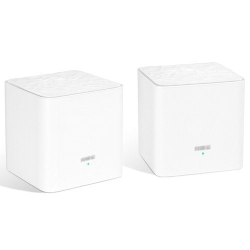 2PCS TENDA MW3 Mesh 2.4GHz + 5GHz WiFi Router Through-Wall Full Coverage Smart QoS AC 1200 Dual Frequency Support MU-MIMO Technology APP Control - White