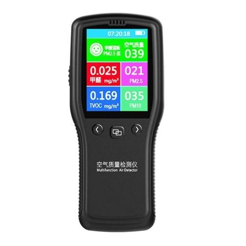 8 in 1 Detector Air Quality Monitor PM2.5 PM10 Formaldehyde HCHO TVOC LCD Digital Detector