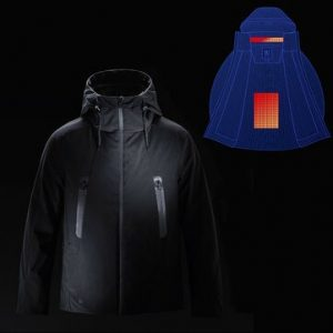 90FUN IP64 Men Winter Rechargeable Adjustable Electric Heated Jacket Coats