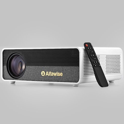 Alfawise Q9 BD1080P HD 4K Smart Home Projector with 40 - 300 inch Mirroring Screen High Brightness