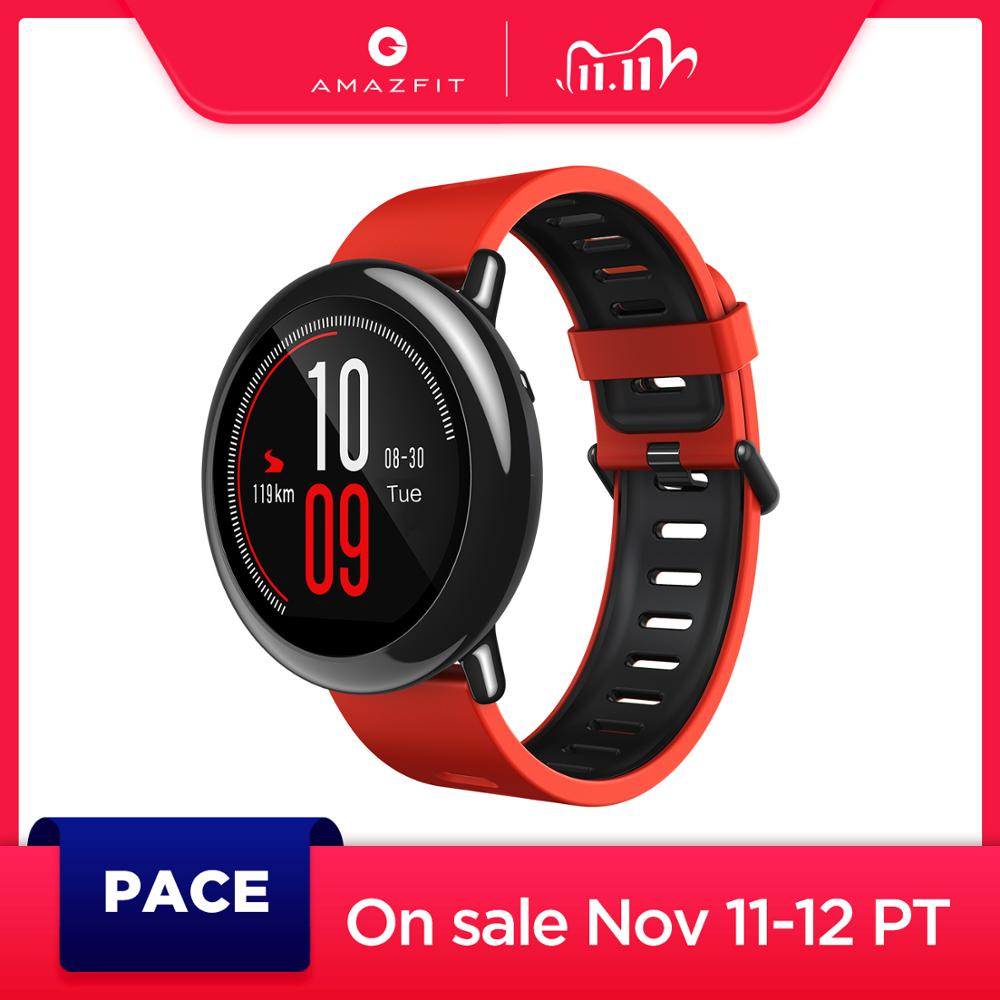 Amazfit Pace Smartwatch Amazfit Smart Watch Bluetooth Music GPS Information Push Heart Rate For Android phone redmi 7 IOS|Smart Watches| - AliExpress