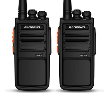 BAOFENG 888S Plus 5W 3800mAh Walkie Talkies Lightning Version High Power UV Dual Band 16 Channel Two Way Radio USB Rechargeable for Climbing Hiking Civil Hotel