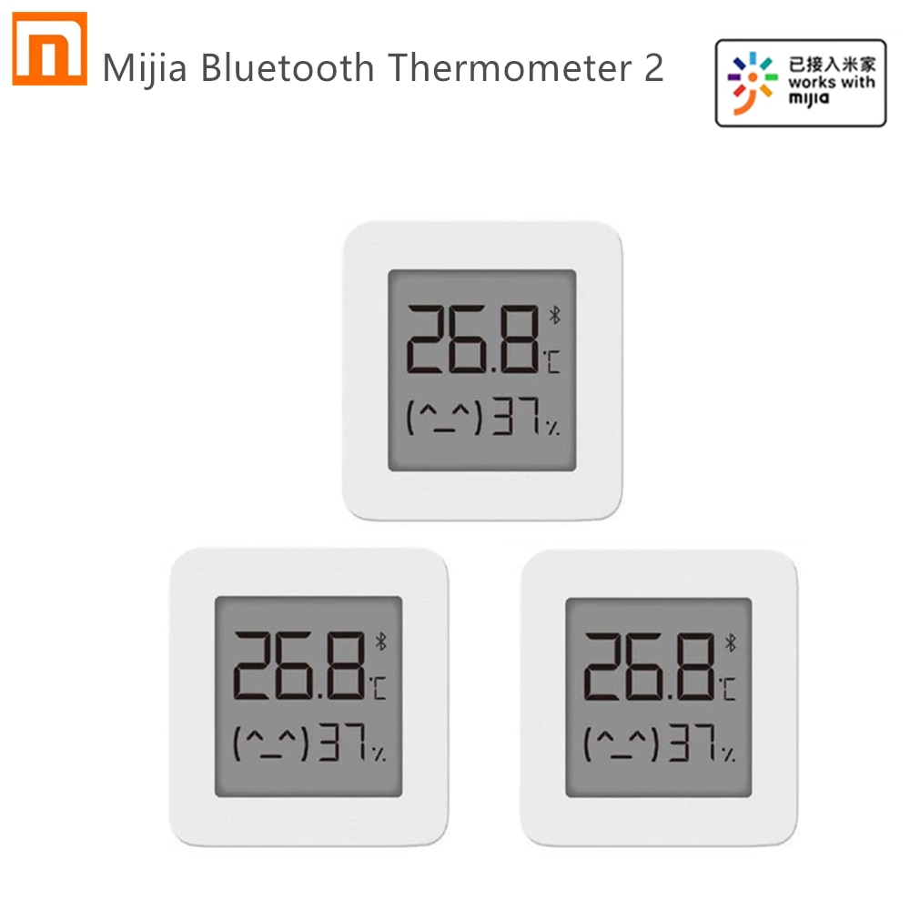 Fast shipping Xiaomi Mijia Bluetooth Thermometer 2 Wireless Smart Electric Digital Hygrometer Thermometer Work with Mijia APP|Smart Remote Control| - AliExpress