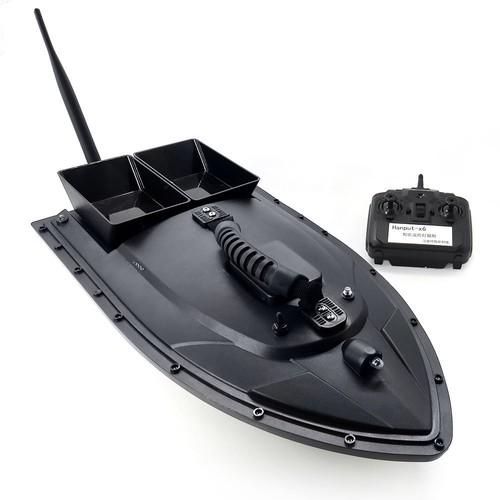 Flytec 2011-5 Intelligent Fishing Bait RC Boat with Double Motors 500M RC Distance 1.5KG Loading LED Light - Black