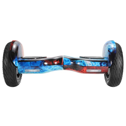 Imina 10 inch Self Balancing Scooter Hoverboard with Bluetooth Speaker and StripLight - Red Blue