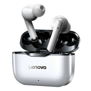 Lenovo LP1 TWS bluetooth Earbuds IPX4 Waterproof Sport Headset Noise Cancelling HIFI Bass Headphone with Mic Type-C Charging