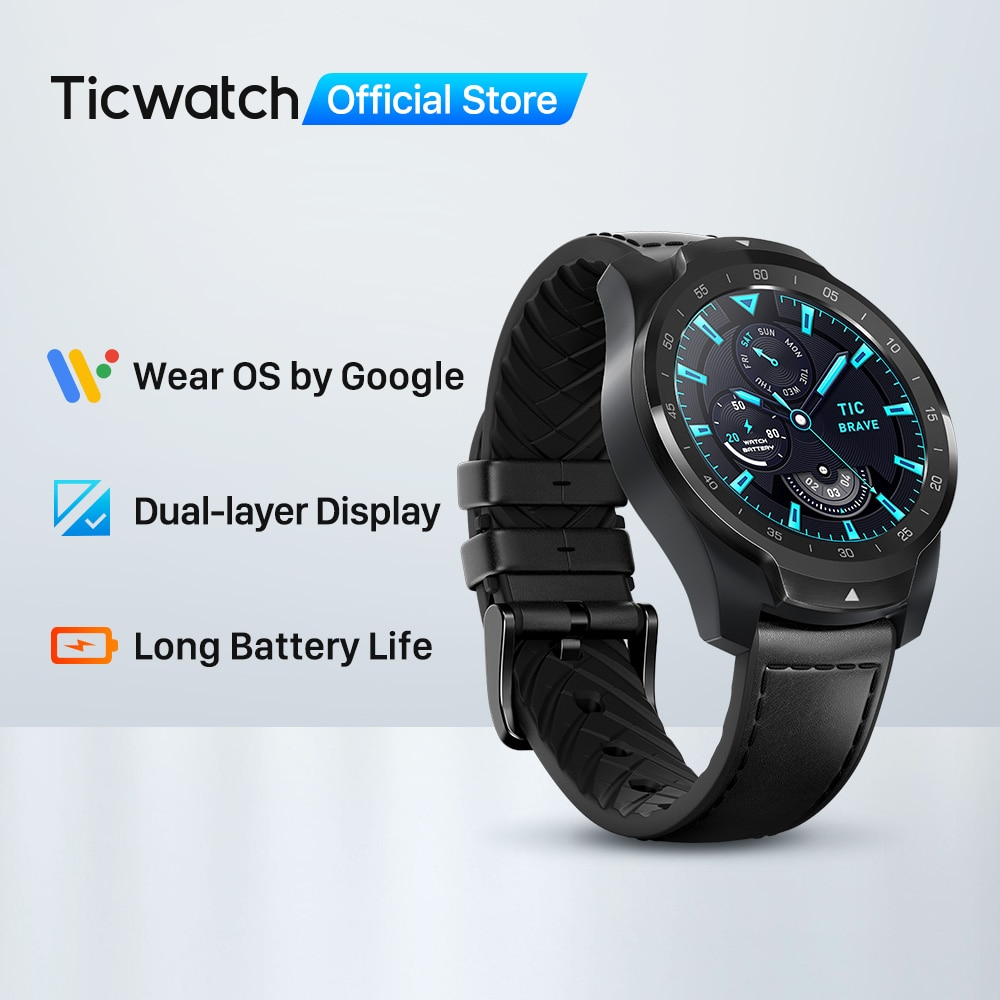TicWatch Pro 2020 1GB RAM Smartwatch Dual Display IP68 Waterproof Watches NFC Sleep Tracking 24h Heart Rate Monitor Men's Watch|Smart Watches| - AliExpress
