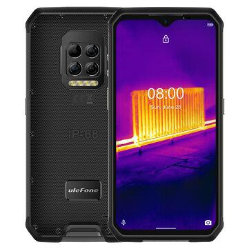 Ulefone Armor 9 Thermal Imaging Camera IP68 IP69K Waterproof 6.3 inch 8GB 128GB 64MP Camera NFC 6600mAh Helio P90 Octa Core 4G Rugged Smartphone