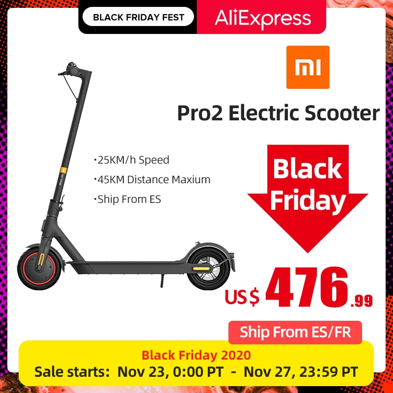 Xiaomi Mi Electric Scooter Pro 2 Original Lightweight Mijia Foldable Skateboard 25km/h 45km Distance ABS 12800mah|Electric Scooters| - AliExpress