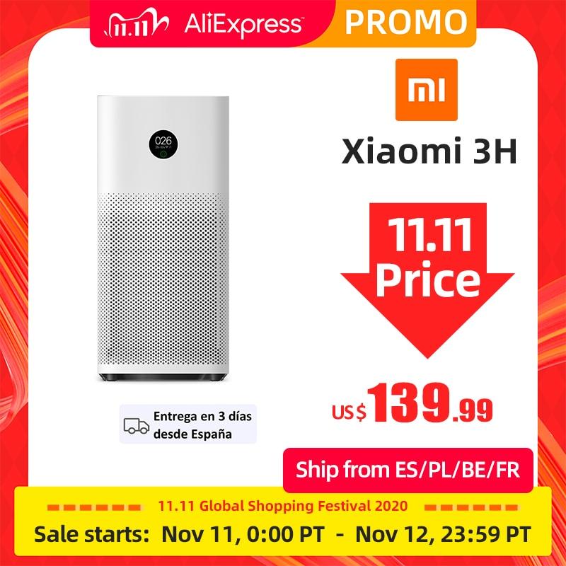 Xiaomi Mijia Mi Air Purifier 3H Sterilizer Addition Formaldehyde Wash Cleaning Intelligent Household Hepa Filter Smart APP WIFI Air Purifiers  - AliExpress