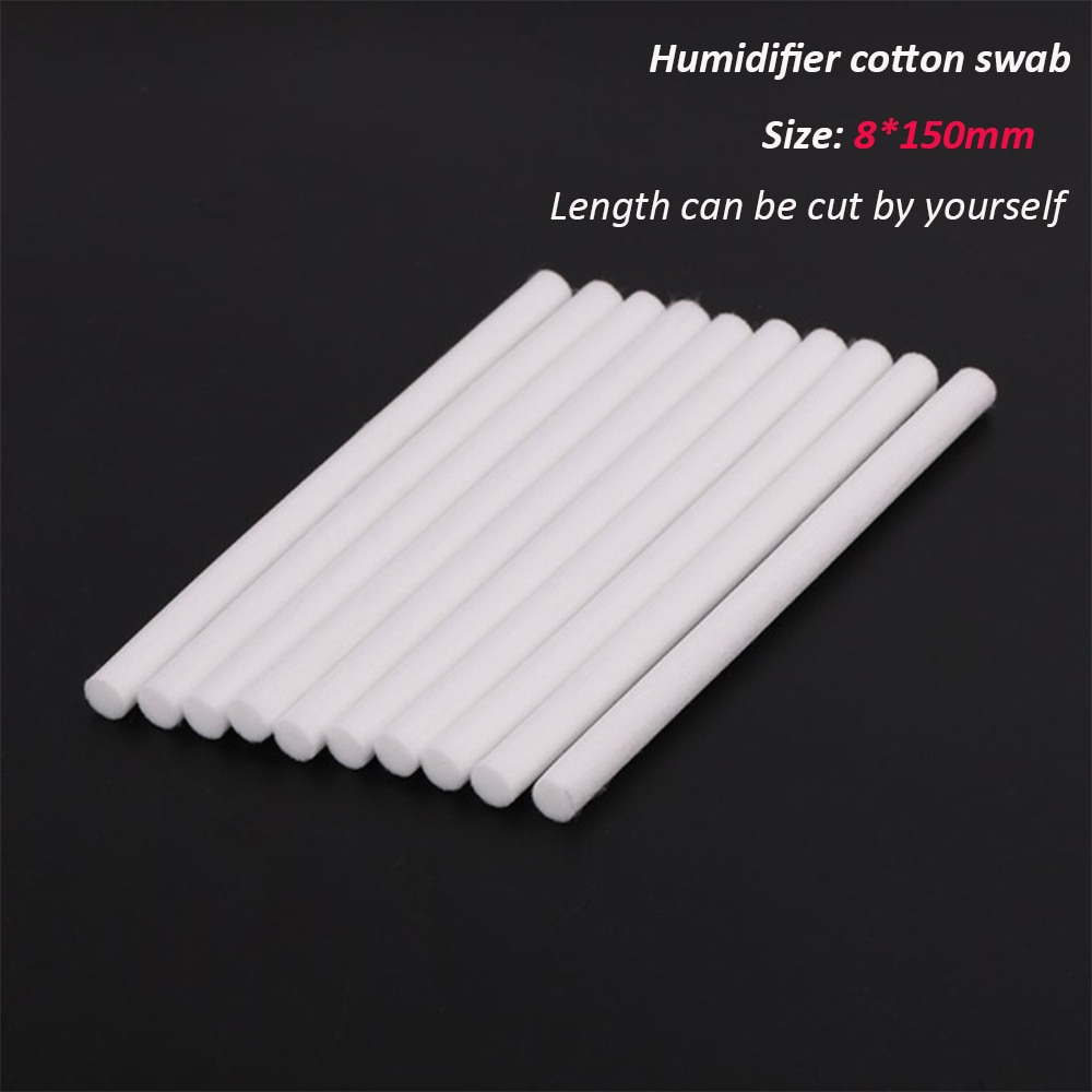 10 Pieces 8*150mm Humidifiers Filters Cotton Swab for USB Air Ultrasonic Humidifier Aroma Diffuser Replace Parts Can Be Cut|Humidifier Parts| - AliExpress