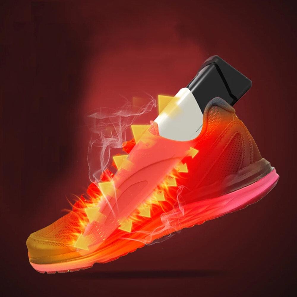 220V UV Shoe Dryer Deodorization Sterilizer Fast Heat Shoe Heater Portable Timing Boot Shoes Baked Dehumidify Shoe Dryer