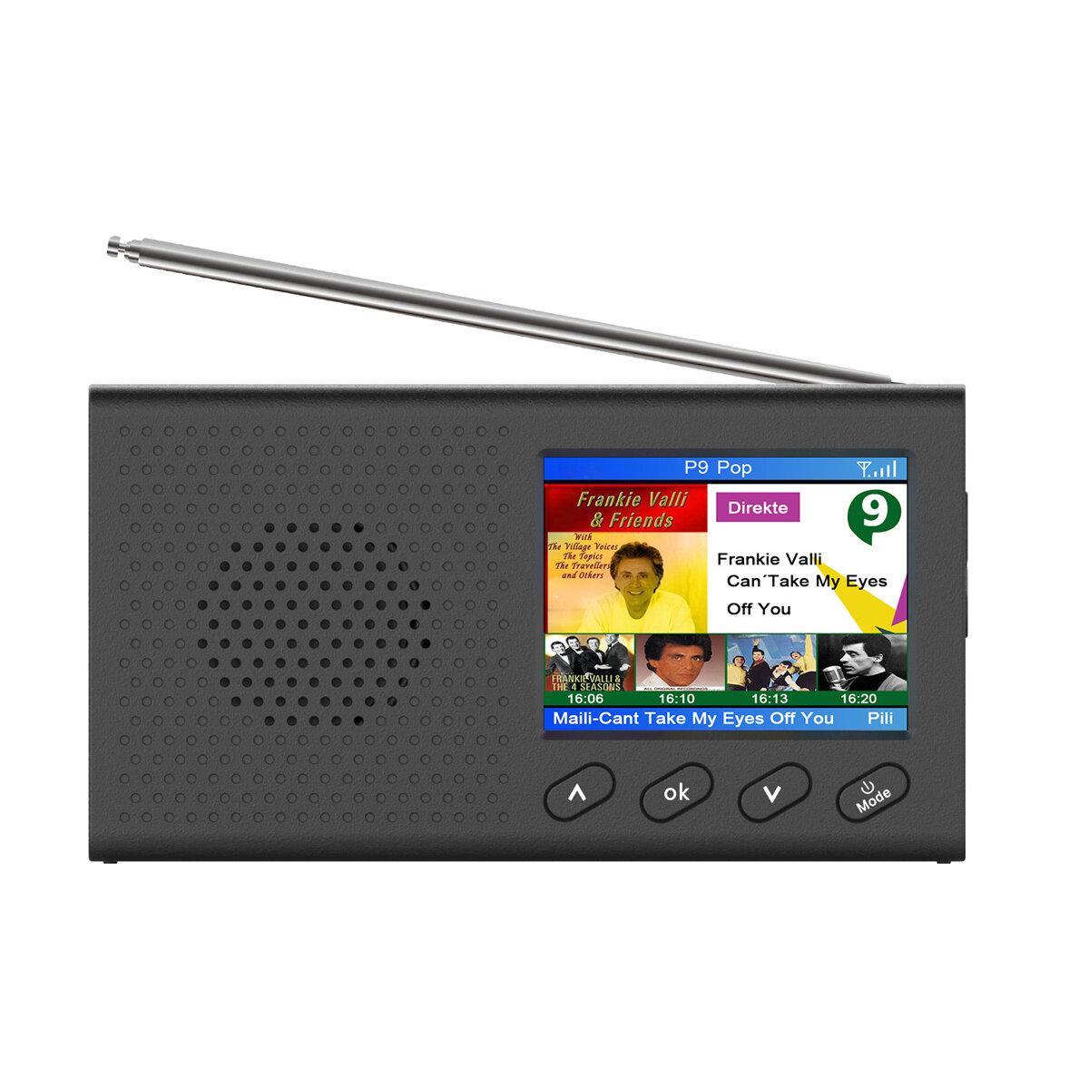 "2.4"" Portable DAB/DAB+Digital Radio FM Receiver Speaker Bluetooth 5.0 Alarm Clock COD"