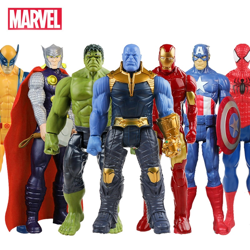 30cm Marvel Super Heroes Avengers Endgame Thanos Hulk Captain America Thor Wolverine Venom Action Figure Toys Doll for Kid Boy|Action & Toy Figures| - AliExpress