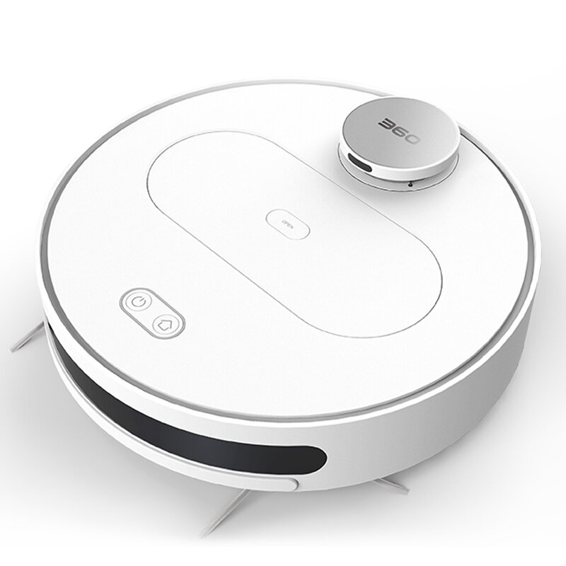 360 S6 Robot Vacuum Cleaner 1800Pa Suction Mopping Sweeping Mode APP Remote Control LDS Lidar SLAM Algorithm 3000mAh Battery Life COD