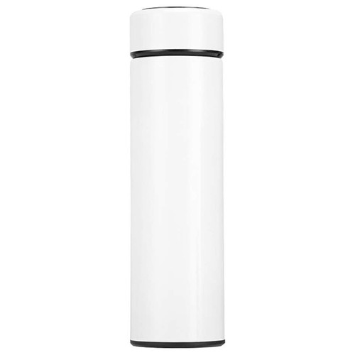 500ML Smart Thermos Cup Portable 304 Stainless Steel With LCD Temperature Display - White