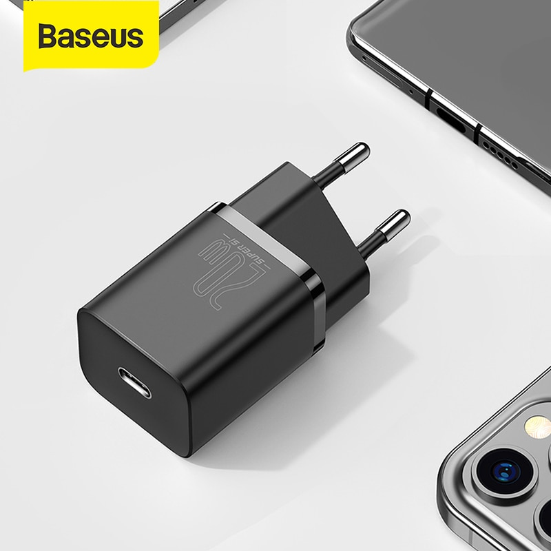 Baseus Super Si USB C Charger 20W For iPhone 12 Pro Max Support Type C PD Fast Charging Portable Phone Charger ForiP 11 Pro Max|Mobile Phone Chargers| - AliExpress