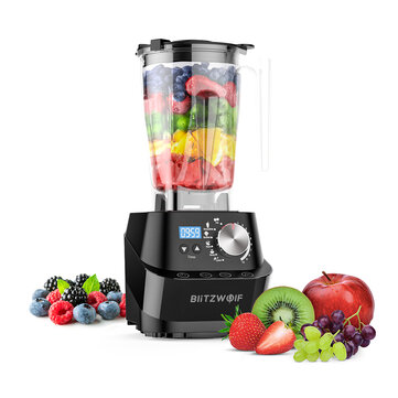 BlitzWolf® BW-CB1 Professional Countertop Blender 1500W 50/60Hz 10 Automatic Blending Models with Self-Clean Safe Sensor Technology for Kitchen